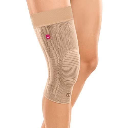 medi Genumedi - Kniebandage mit Haftband | sand | Größe VII extraweit | Kompressionsbandage zur Entlastung der Kniescheibe | Beidseitig tragbar