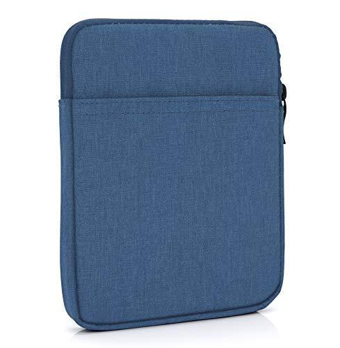 "MyGadget 8 Zoll Nylon Sleeve Hülle - Schutzhülle Tasche 8\"" Etui eBook Reader, Phablet, Tablet z.B. Amazon Fire HD 8 / Apple iPad Mini 5 2019 - Blau"
