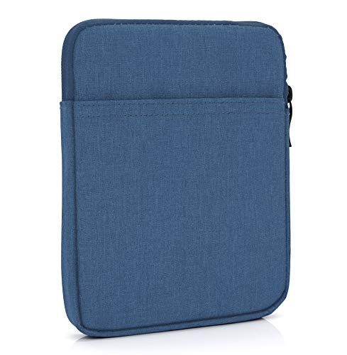 "MyGadget 6 Zoll Nylon Sleeve Hülle - Schutzhülle Tasche 6\"" für eBook Reader/Smartphone/Navi z.B. Kindle Paperwhite, Apple iPhone XS X 8 Plus - Blau"
