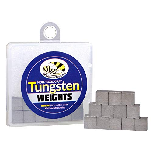 Tungsten Cubes, 2 oz. Cube Weights, 12 1/4' Cubes, Easily Nail The Perfect Pinewood Race Car Weight