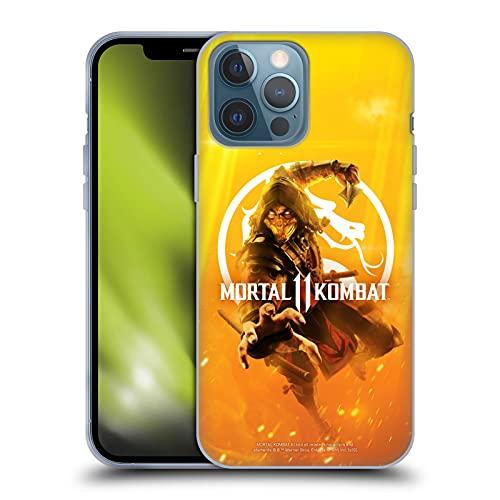 Head Case Designs Licenciado Oficialmente Mortal Kombat 11 Arte Clave Logotipo Arte Carcasa de Gel de Silicona Compatible con Apple iPhone 13 Pro MAX
