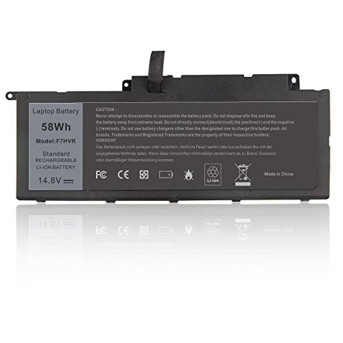 ARyee F7HVR Batería Compatible con DELL Inspiron 15 7537 17 7000 7737 7746 Series F7HVR 062VNH G4YJM T2T3J(58Wh 14.8V)