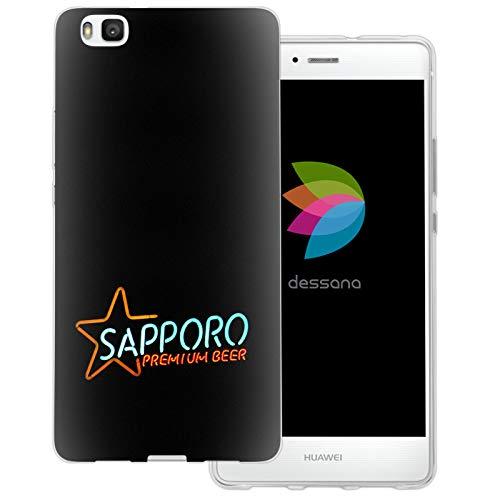 dessana Japan Sightseeing transparente Schutzhülle Handy Case Cover Tasche für Huawei P9 Lite Sapporo Bier