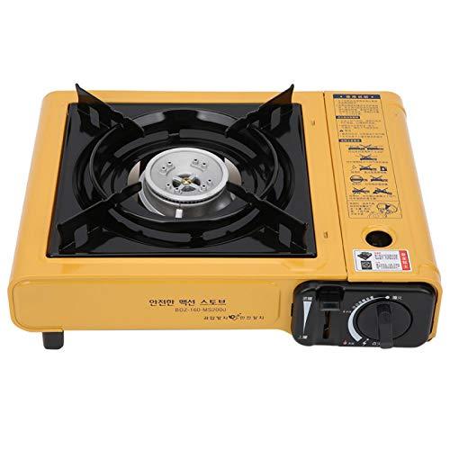 Estufa de parrilla Estufa al aire libre, para barbacoa al aire libre, picnic, cocina de viaje por carretera, cocina(yellow)
