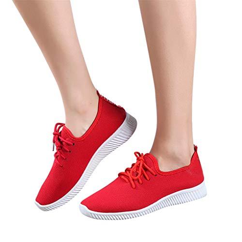Dorical Damen Sneaker Leichte Modische Turnschuhe Fliegendes Weben Socken Sportschuhe Schüler Laufschuhe Atmungsaktiv Freizeitschuhe Straßenlaufschuhe für Outdoor Fitness Gym Walkingschuhe
