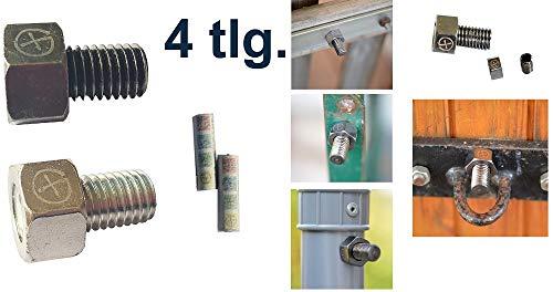 geo-versand 4tlg. Set Geocaching Versteck -magnetische Schraube Nano Stadt Mico Magnet Cache