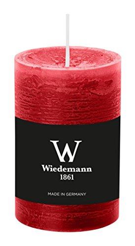 Wiedemann Marble Kerze durchgefärbt ASF, Wachs, Rubin, 9 x 5.8 cm, 8-Einheiten