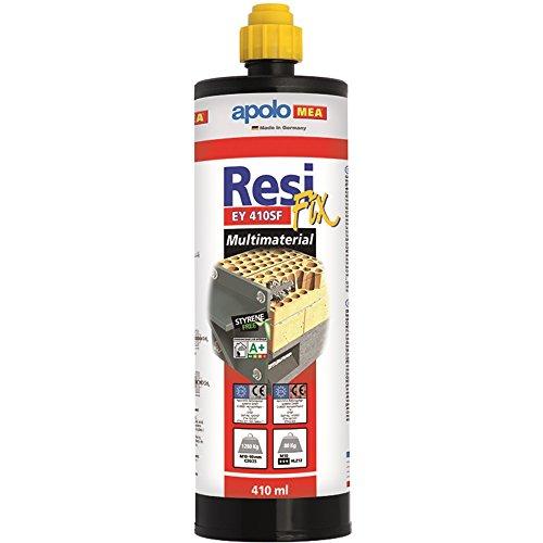 Apolo Mea 410Eysf - Taco Químico Epoxy Sin Estireno Tipo Resifix 410 Ml Con 1 Cánula, 1 Unidad