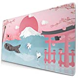 マウスパッド 大型 富士山 鯉のぼり サクラ 鳥居 和風 ゲーミング デスクマット 傷防止 防水性 耐久性 滑り止め 多機能 超大判 40cm×75cm