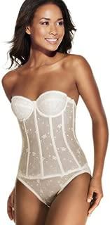 Dominique Longline Lace Bustier Style 8900 - White - 38D