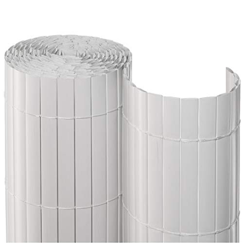 Sichtschutzmatte PVC ca. Größe 1,00x3 m Farbe weiß