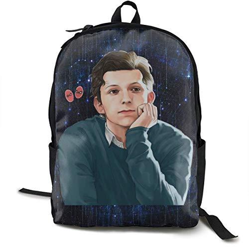 Tom Ho-lland School Shoulder Backpack Laptop Daypack Bookbag Travel Bag
