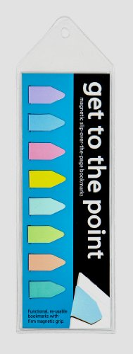 Get to the Point - Magnetic Arrow bookmarks - Pastel Set of 8 - Arrow Line Book Marker Pack is Ideal for Men, Women,Teachers, Librarians,Teens & Kids! Great for School, Work & Readers on all levels.