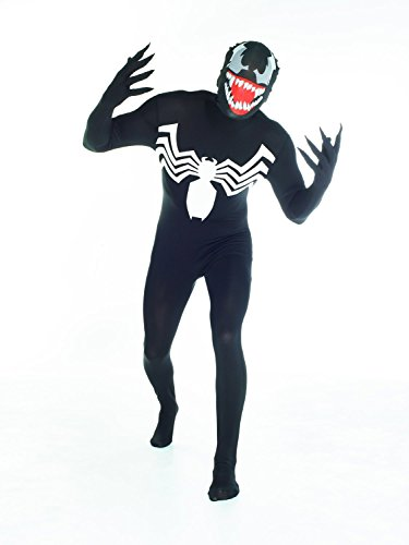 Morphsuits Official Venom, Costume, Nero, Large - 5'5-5'9 (163cm-175cm)