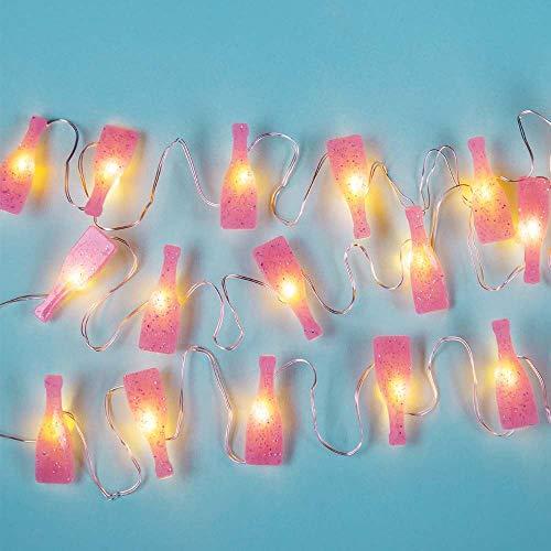 Fizz Creations Prosecco Mini String Lights, Roze