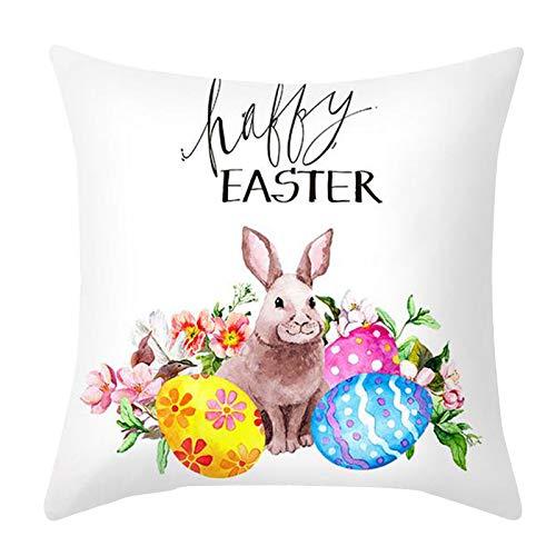 Watopia Funda de cojín con estampado de Pascua para sofá, decoración personalizada del hogar, protector de almohada decorativo para amigos, regalo de boda, fiesta, 45 cm x 45 cm