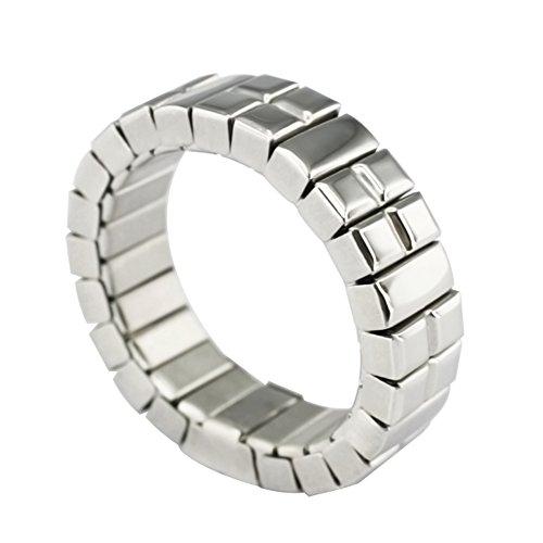 Neodym Flex Magnetring Energetix 4you 1213 flexibel Uni Silber Magnetix Retro Design - 16