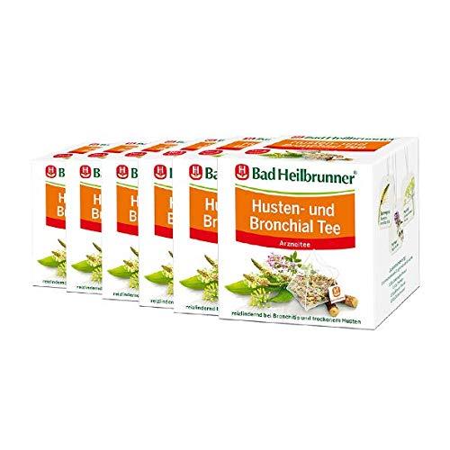 Bad Heilbrunner® Husten- und Bronchial Tee - Pyramidenbeutel - 6er Pack