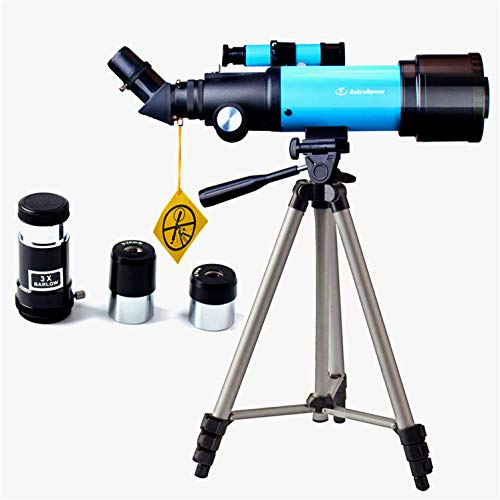 EastPole 70mm Telescope for Beginners and Kids, Refracter Travel Scope for Viewing Moon Stargazing Outdoor Activities, FMC Lens, BAK4 Prism, Tripod and 2019 New Smartphone Mount (MidnightBlack)