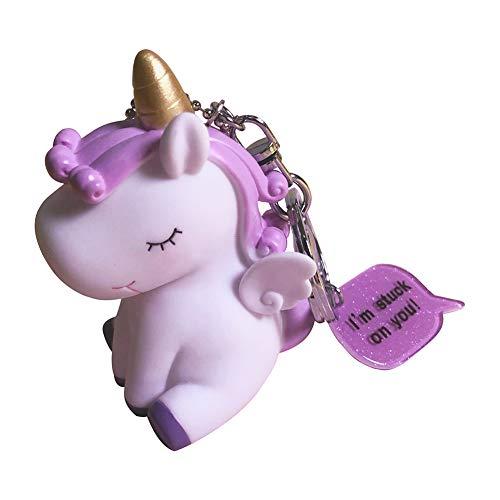 Cupcinu Llavero Unicornio Colgante de Llaves de niñas Claves de Silicona Blanda Decoraciones para Bolsos Mochilas Carteras Móviles Lindo y Compacto (Style 8)