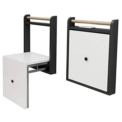 GOHHK Klappschuhbank Wandmontage Unsichtbarer Klappschuhstuhl mit Armlehnen, klappbar für Flur Wohnzimmer und Tür