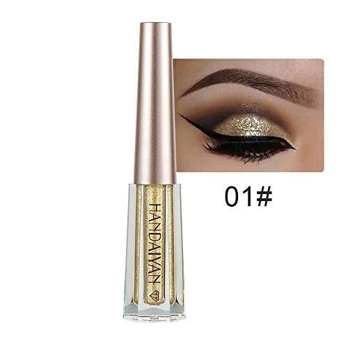 Maquillaje cosmético Yesmile Color metalizado Ojos brillantes ahumados sombra de ojos Brillante...
