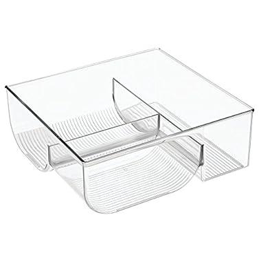 InterDesign 64110 Kitchen Binz Food Container Lid Storage Organizer for Kitchen Cabinet, Pantry - Clear