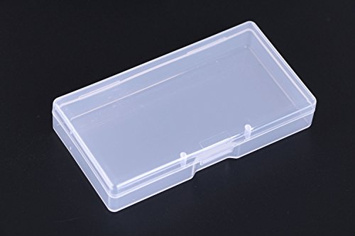 Mini Skater 3.52 ×1.8 ×0.55 Inch High Transparency Visible Plastic Box Small Size Clear Storage Case with Lid Use for Organizing Small Parts,Cotton Swab,Ornaments (4 Pcs)