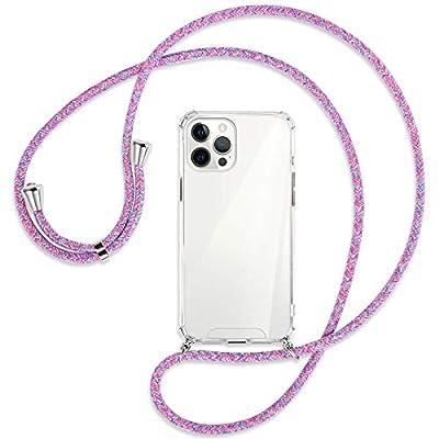 mtb more energy® Collar Smartphone para Apple iPhone 12 Pro MAX (6.7'') - Unicornio Morado - Funda Protectora ponible - Carcasa Anti Shock con Cuerda Correa
