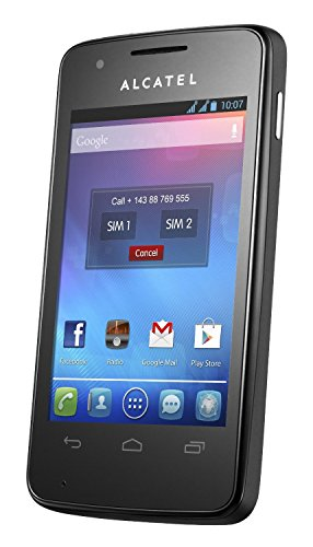 Alcatel Onetouch S'Pop 4030X (3,2 MPX Kamera, 3,5 Zoll, Android™ 4.1, Single SIM) Raven Black
