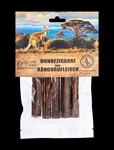 O´Canis Hunde-Zigarre aus Kängurufleisch 1x 5 Stück - New 2cm mehr Fleisch !