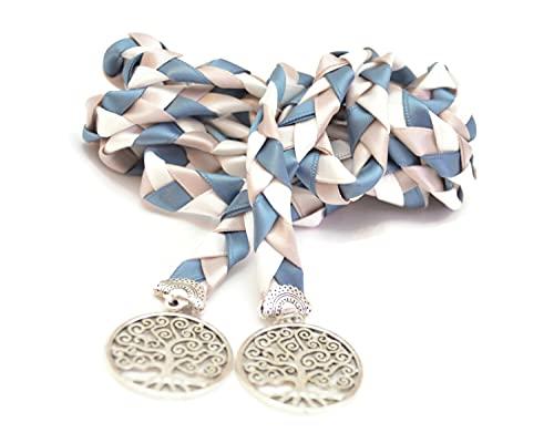 Divinity Braid Steel Blue Silver Tree of Life Wedding Handfasting Cord #Wedding #HandfastingCeremony #Handfasting #Celtic #DivinityBraid #TreeOfLife