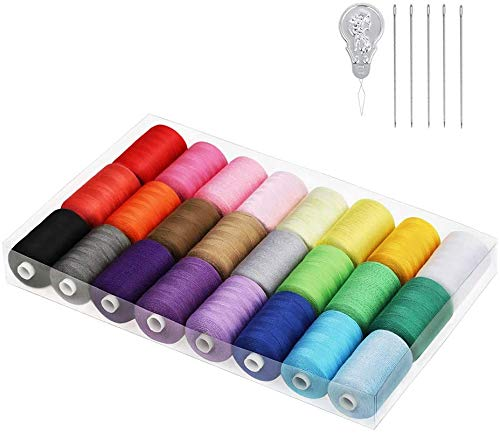 Juego de hilos de coser, mezcla de algodón, para máquina...