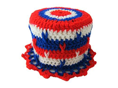 Storchenlädchen Klohut, rot weiß blau Klohüte Klopapierhut Klopapierhüte Toilettenpapierhut Toilettenpapierhüte