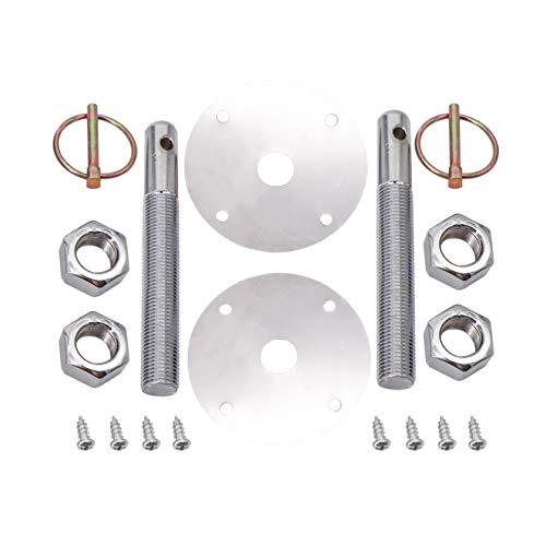 kipa Stainless Hood Pin Set Chrome Hardware for Chevy Ford Mopar Drag Racing Race Durable # 4056