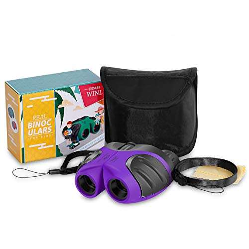 3-8 Year Old Girl, JRD&BS WINL Compact Binoculars for Kids Yard toys,Best Gift for 4-10 Year Girls to Watching birds,Telescope Boys Gifts 10 Years Old to Wildife(Purple)