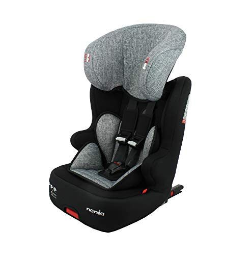 Nania isofix car seat RACER group 1/2/3 (9-36kg) - Made in France - Silver