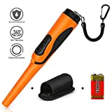 MOSUNECE Upgrade Pinpointer Metal Detector Wand, 16.4 Feet Waterproof and Ultra High Sensitivity Pinpointing Finder Probe for Adults and Kids