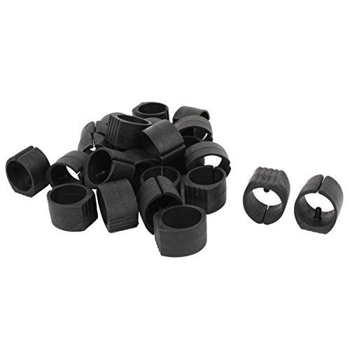 Tubo de plástico Breuer para silla de tubo de pie y suelo, se desliza con un solo pin redondo en forma de U, tapones de 26 mm de diámetro, 24 piezas