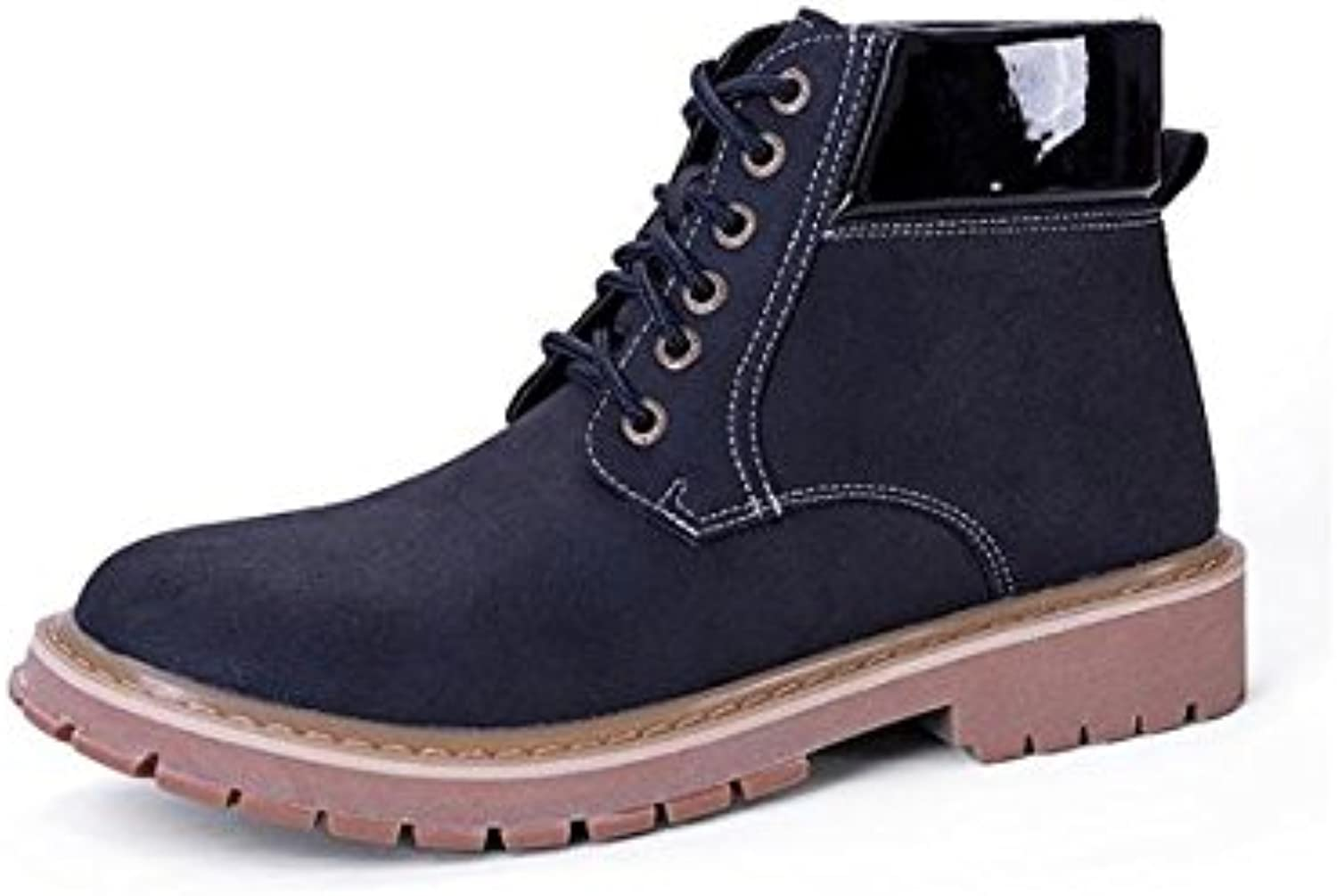Lace Men's waterproof England wind boots winter casual classic , 45