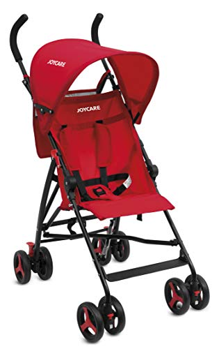 Joycare Passeggino Birichino Jc-1509 Ultra Compatto e Leggero, Rosso