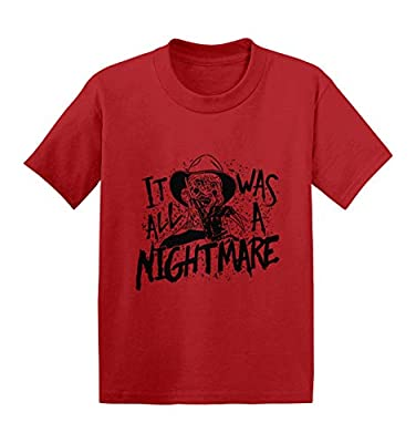It was All A Nightmare - Freddy Parody Infant/Toddler Cotton Jersey T-Shirt (Red, 5T)