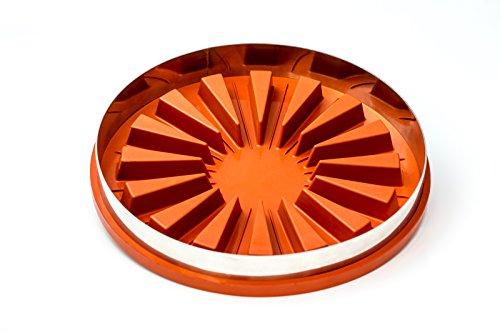 Runde Zila Tortenform für 16 Stücke, Silikon Backform 31,3cm Durchmesser