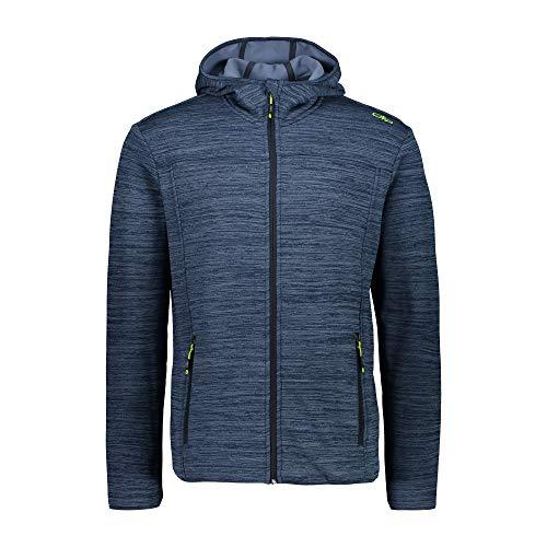 CMP Damen Fleece-Jacke FIX Hood - Power Stretch Qualität 30E9676 (40, Blue Mel.)