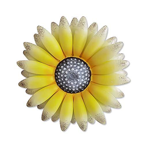 weiwei Decoración de Pared para el hogar 30 CM simulación de Metal Flor Colgante de Pared Sala de Estar jardín Cocina decoración de Plantas de Pared Interior y Exterior