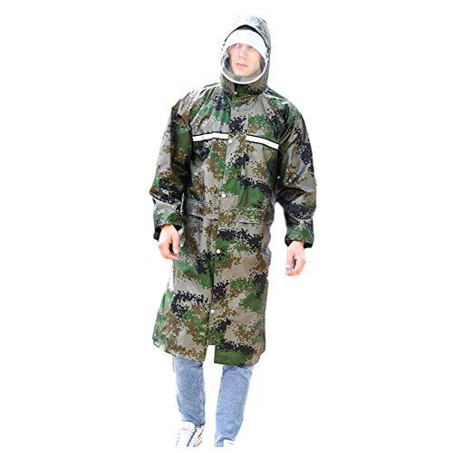 Lange Raincoat Full Body One-Piece volwassen regenbroek pak Verdikte Mannen en Vrouwen Travel klimmen Camping Jacket Poncho Werkkleding