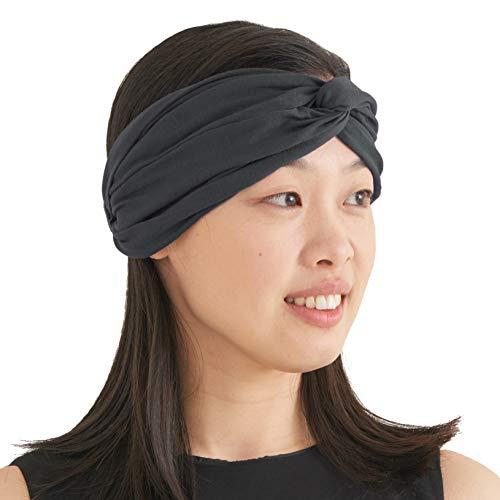 Turban Haarband Boho Style Damen - Sommer Stirnband Aus Damen Schweissband und Haareifen Headwrap Dunkelgrau