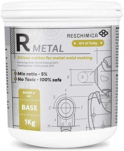 Reschimica R Metal (500gr) - Gomma Resistente alle Alte Temperature. Ideale per Realizzare stampi per soldatini in Metallo o Rivestimenti per componenti Meccanici elettrici od elettronici (55 ShoreA)