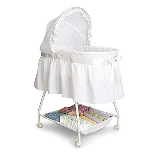 Review Delta Children's Products Sweet Beginnings Bassinet, White (White)