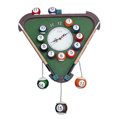 Wanduhr Wanduhr Wanddekoration Triangel Uhren Snooker Uhr Billard Salon Ornamente Neujahr Home Decor